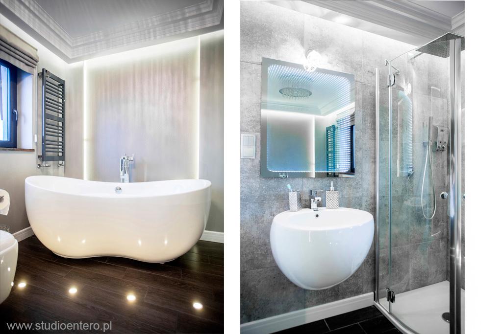 łazienka W Stylu Glamour Studio Architektoniczne Entero