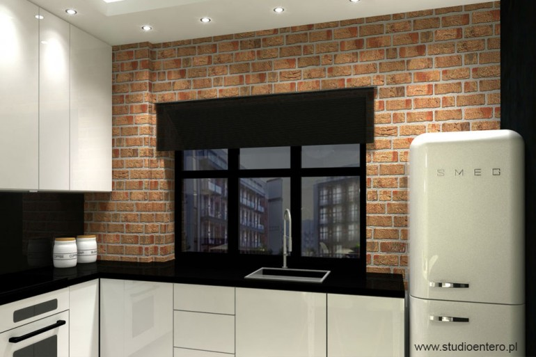 Kuchnia Loft Nowa Papiernia Studio Architektoniczne Entero Maa